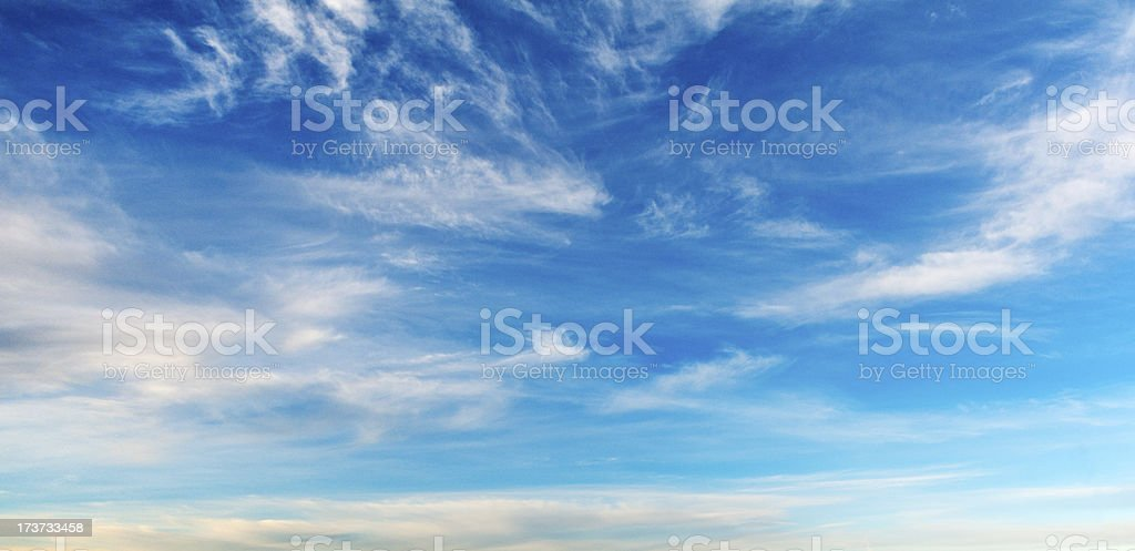 wispy cloud sky background stock photo