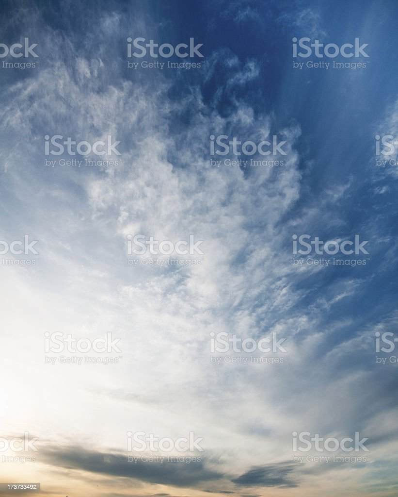 wispy cloud sky background royalty-free stock photo