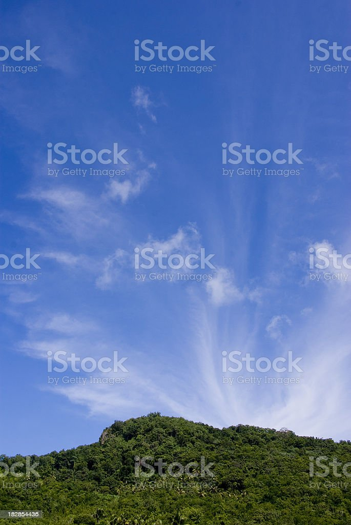 wispy clouds and scenic blue sky royalty-free stock photo