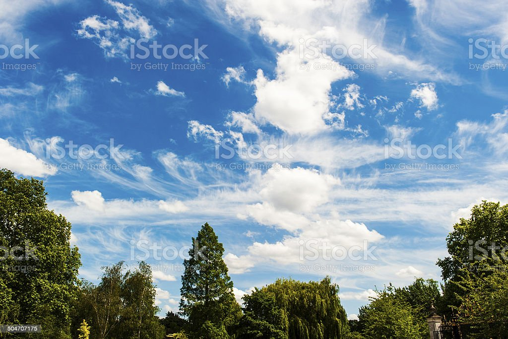 Wispy Clouds in London royalty-free stock photo