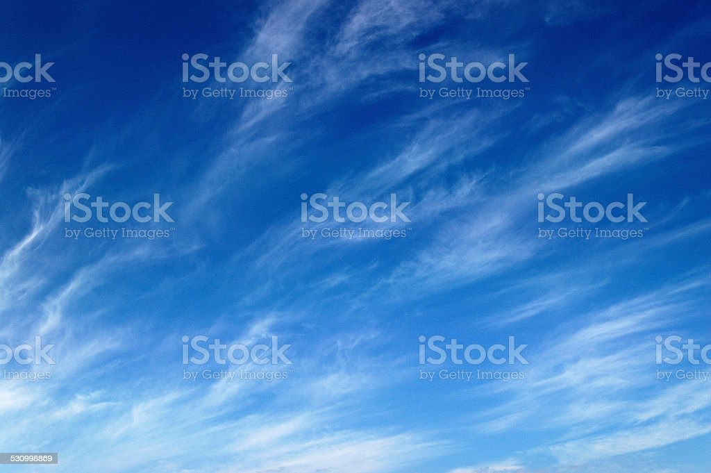 Wispy Clouds stock photo