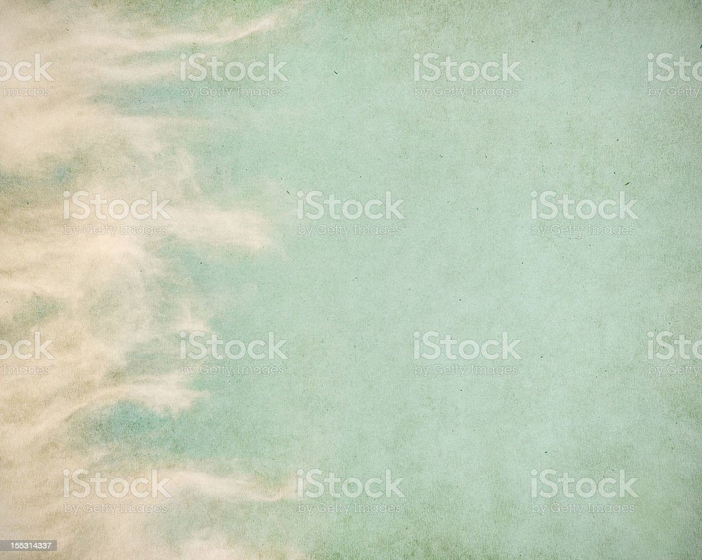Wispy Grunge Clouds royalty-free stock photo