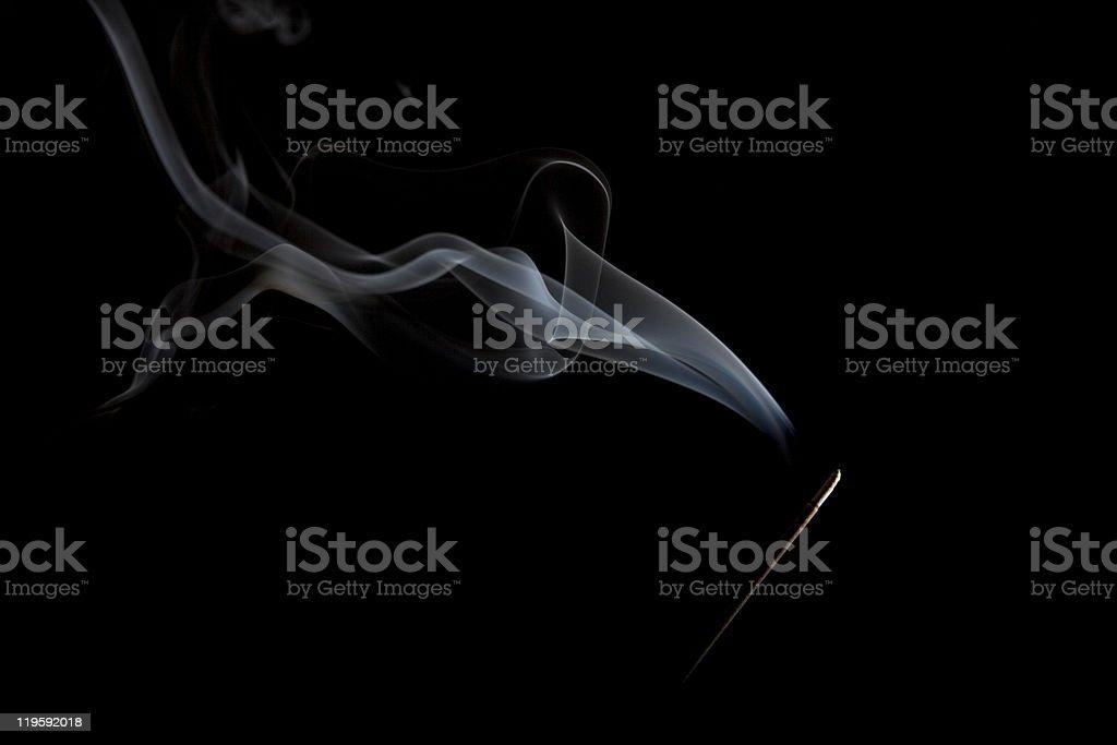 Wispy Smoke and Incense stock photo