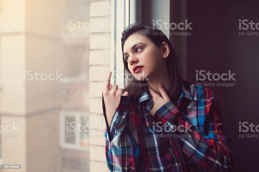 Wistful thoughts stock photo