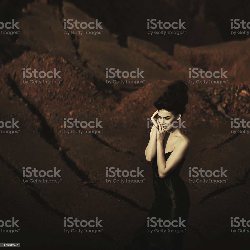 Witch. Black fashion royalty-free stock photo