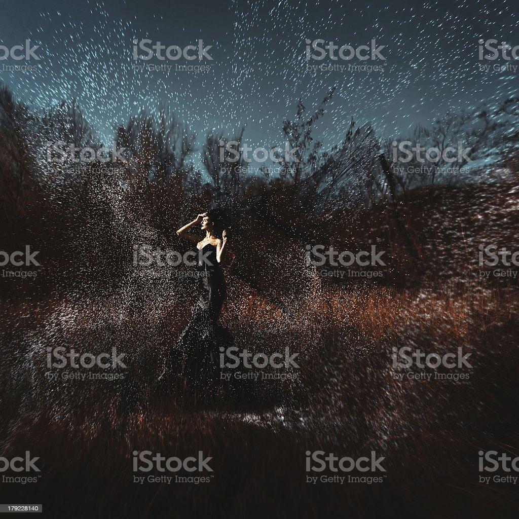 Witch. Black fashion royalty-free stock photo