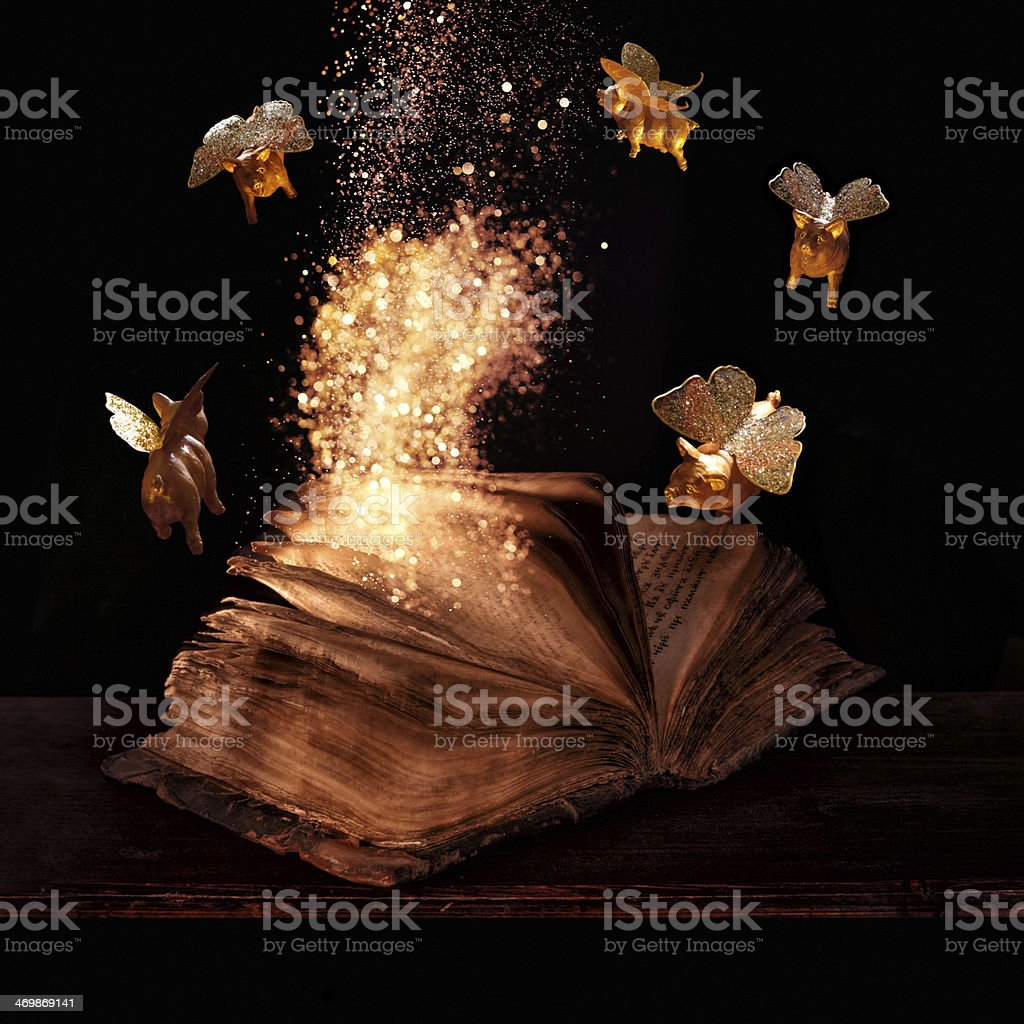 witch book stock photo