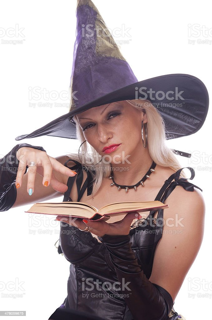 Witch conjuring royalty-free stock photo