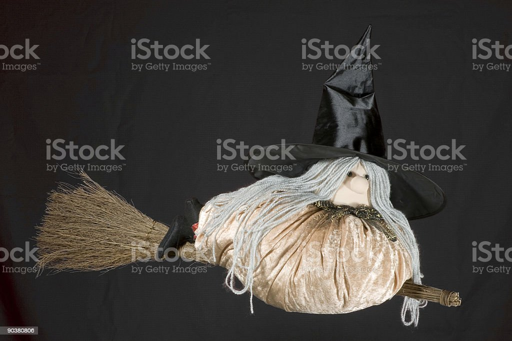 Witch Flying royalty-free stock photo