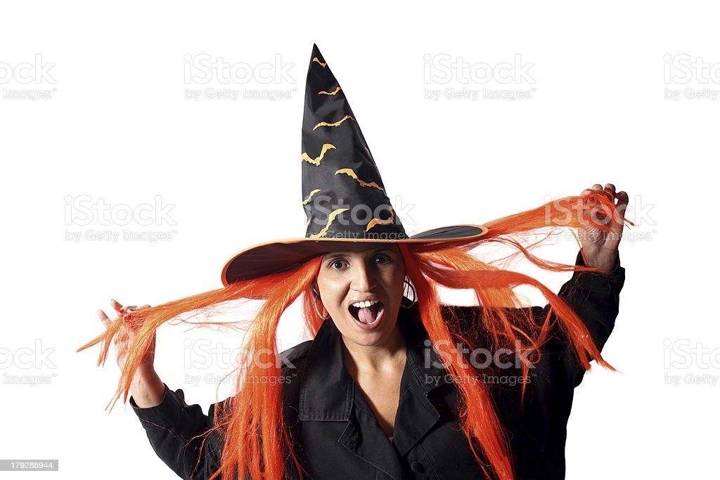 Witch hair royalty-free stock photo