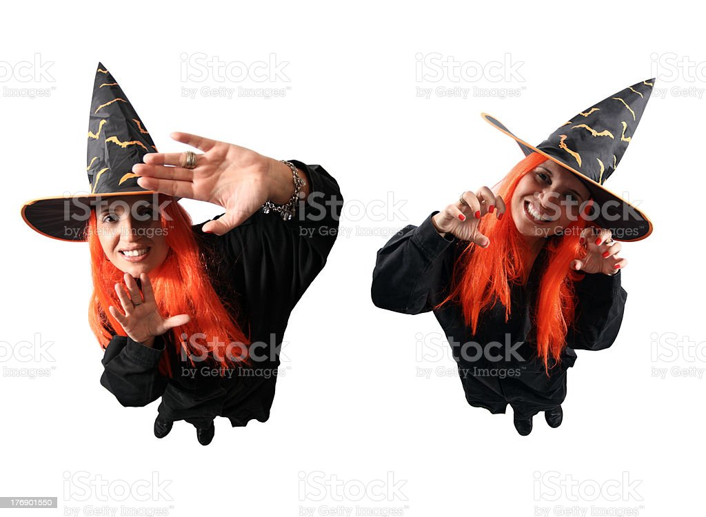 Witch no-spell and spell royalty-free stock photo