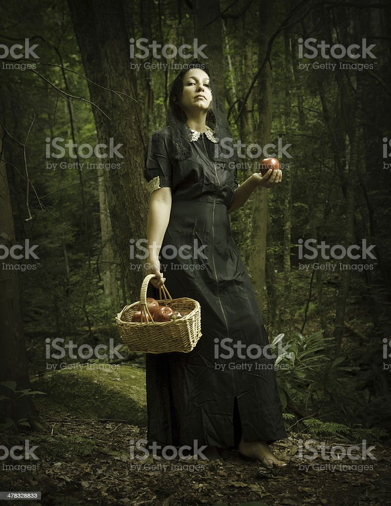 witch of the forest stock photo