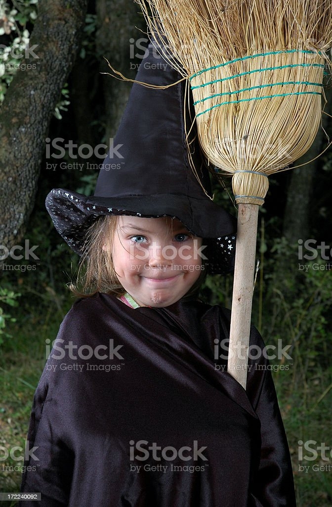 Witch of the woods. stock photo