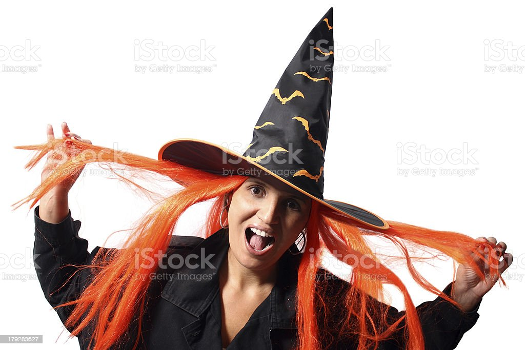 Witch scream royalty-free stock photo
