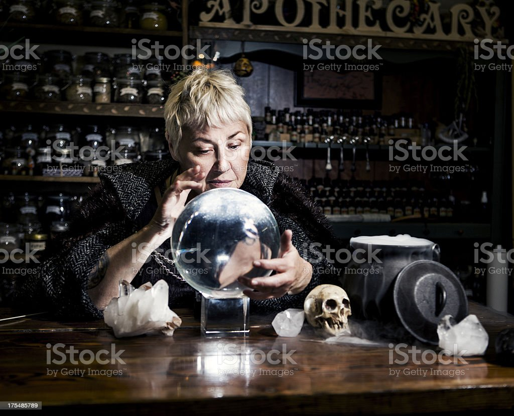 Witch Series: Crystal Ball royalty-free stock photo