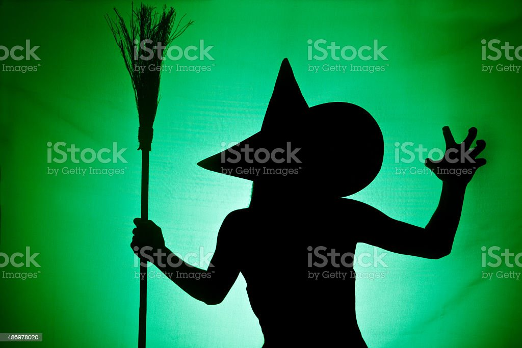 Witch Silhouette stock photo