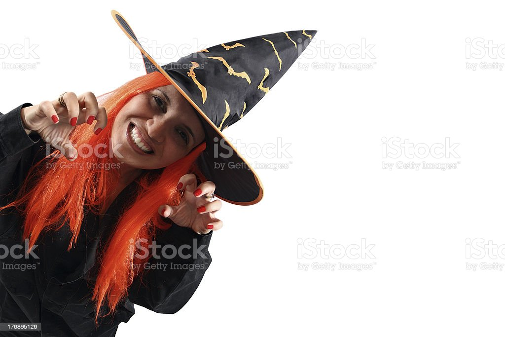 Witch sorcery from corner royalty-free stock photo