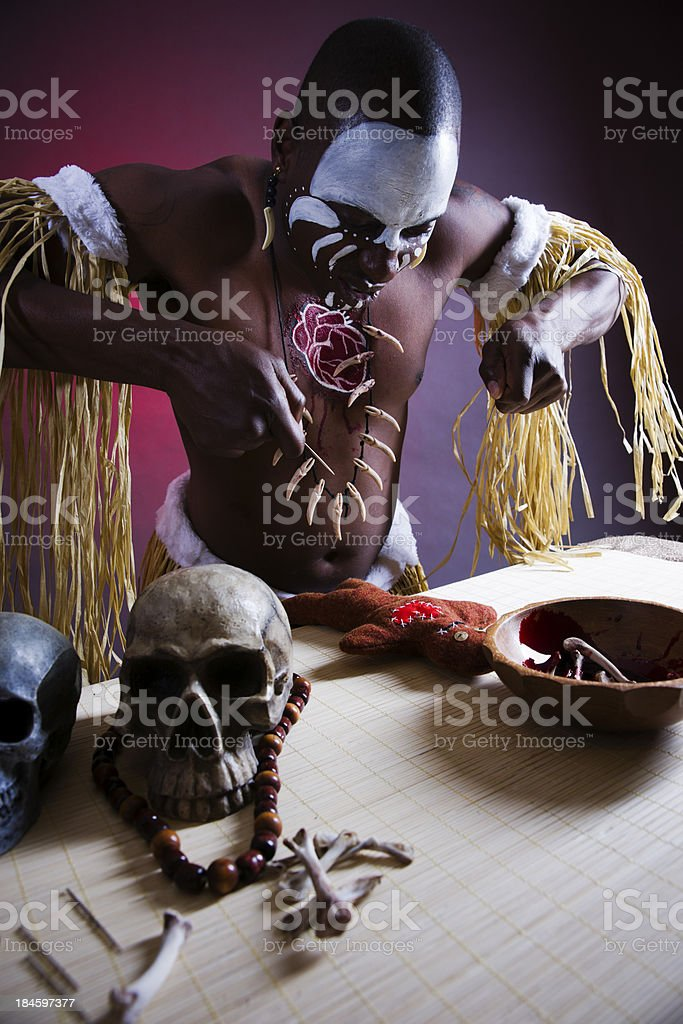 Witchdoctor stock photo