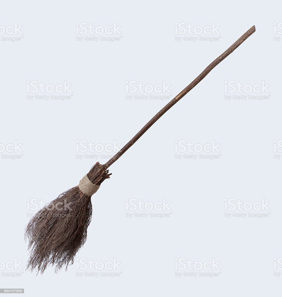 Witches broom stick stock photo