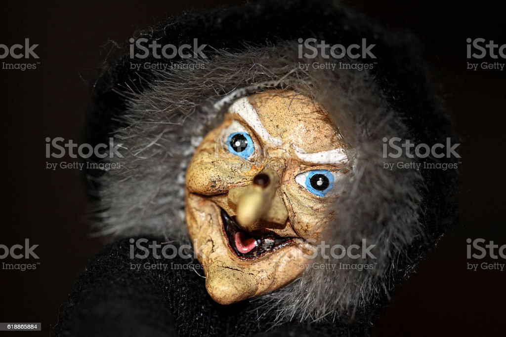 Witches face stock photo
