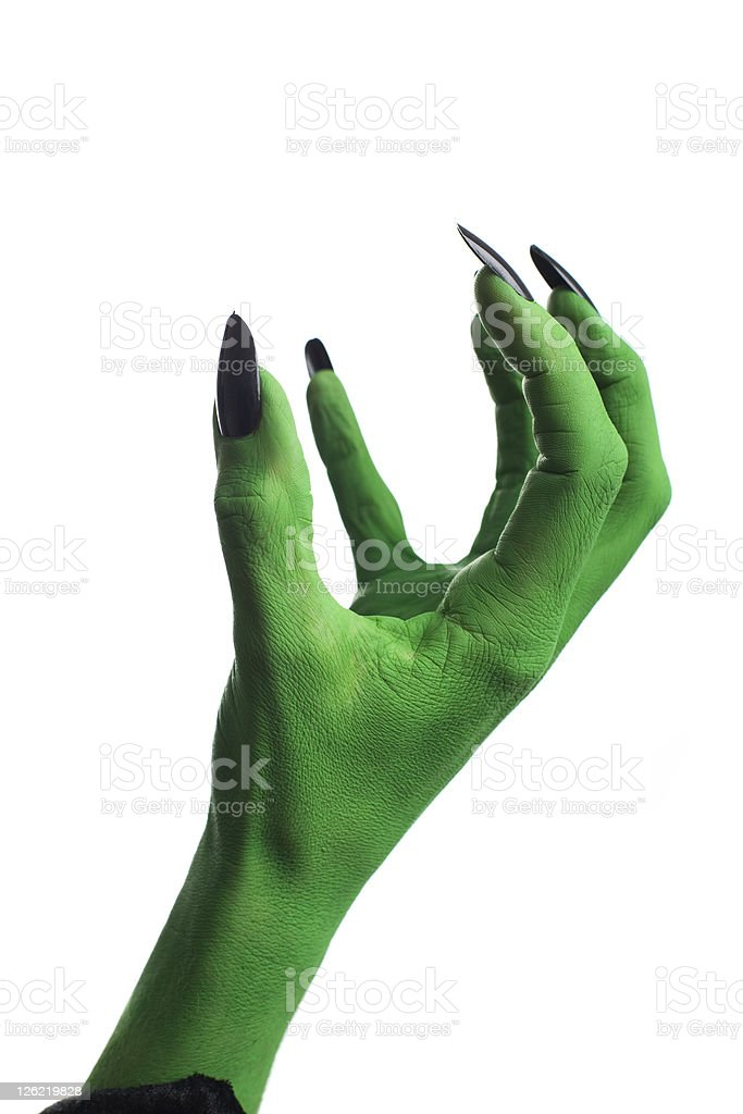 Witches hand stock photo