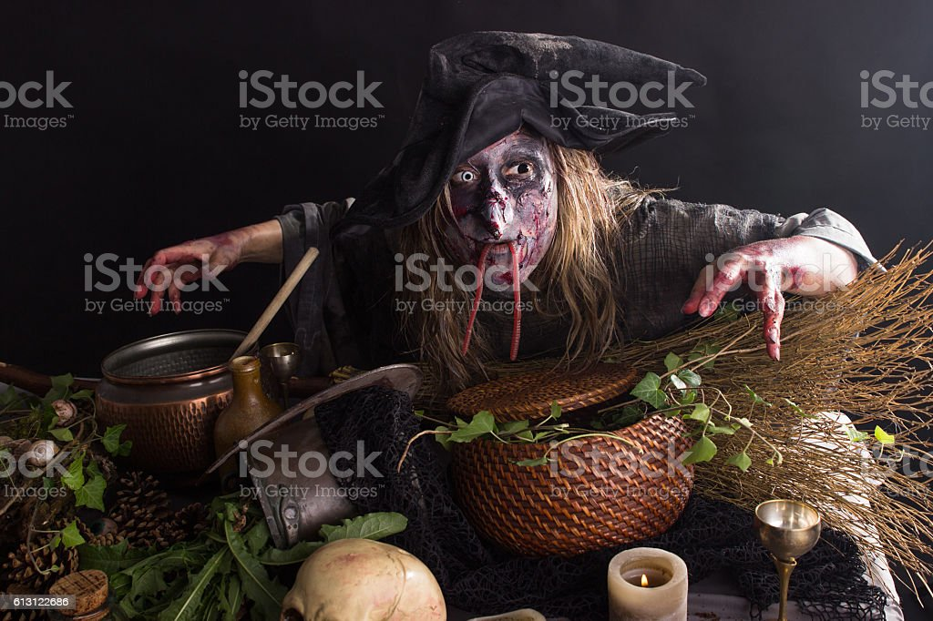 Witches kitchen stock photo