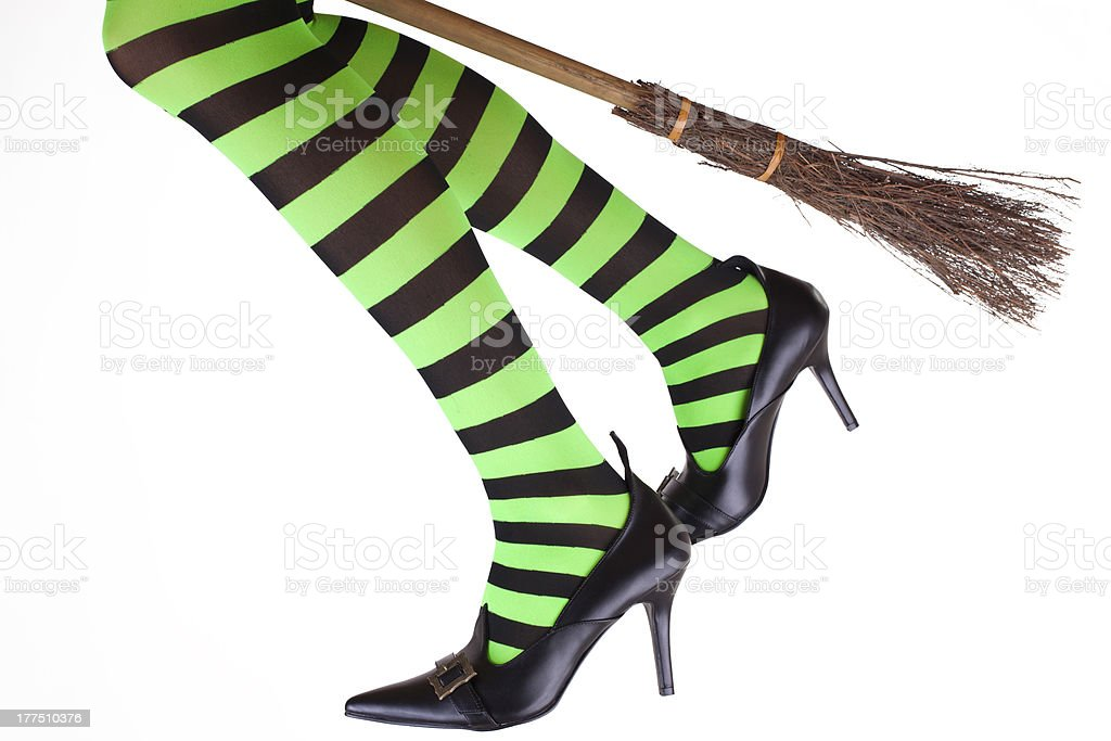 Witches legs stock photo
