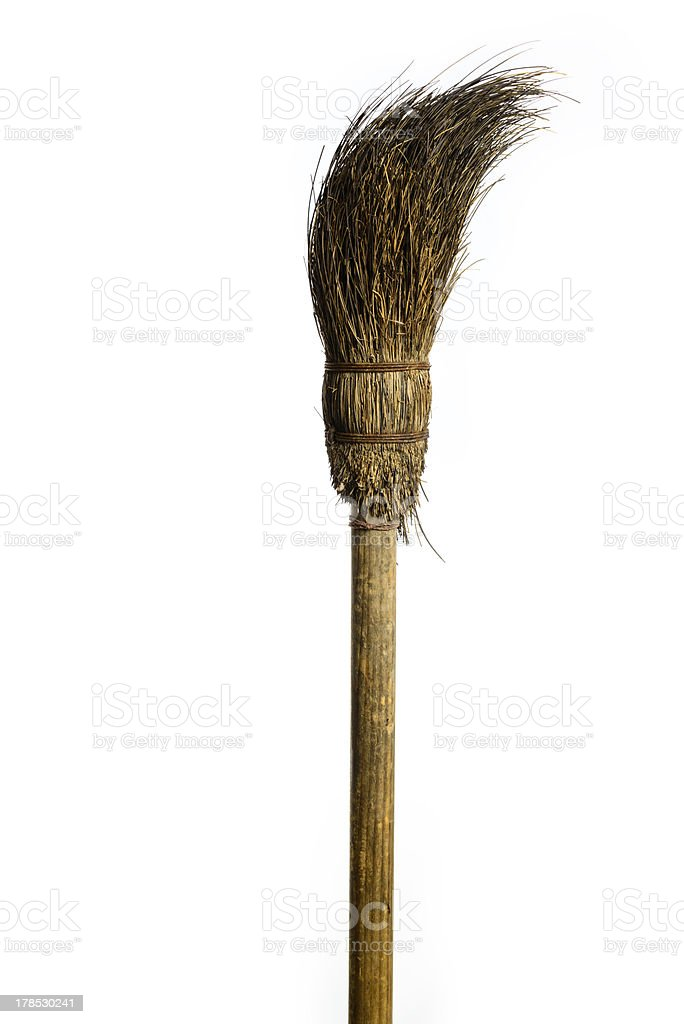 witch's broomstick royalty-free stock photo