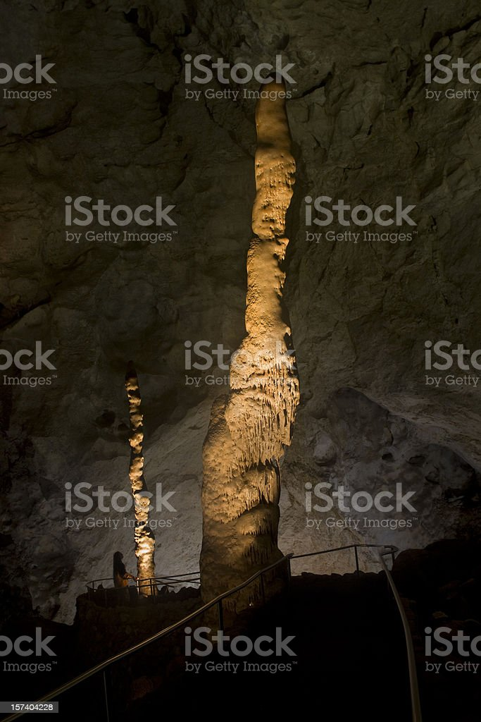 Witchs Finger, Carlsbad Caverns National Park stock photo