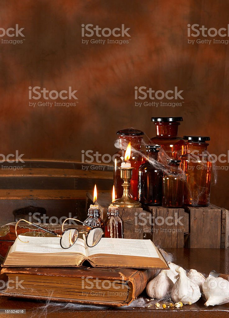 Witch's kitchen stock photo