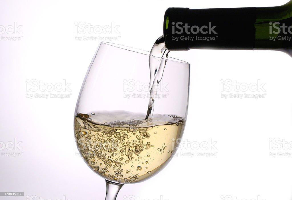 wite wine royalty-free stock photo