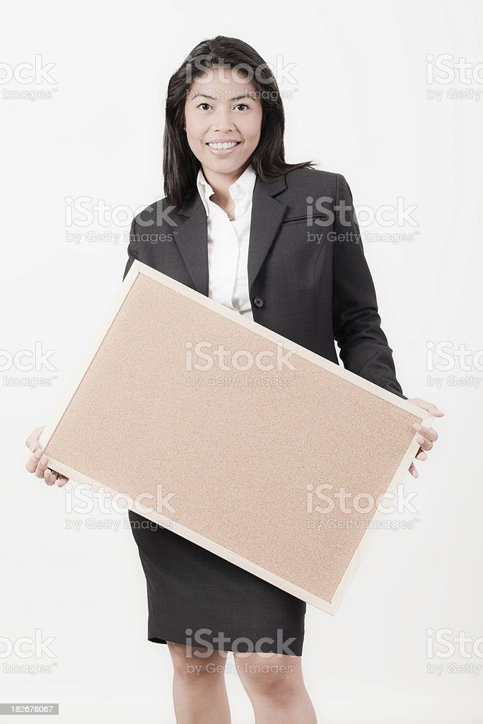 With a Cork Board royalty-free stock photo
