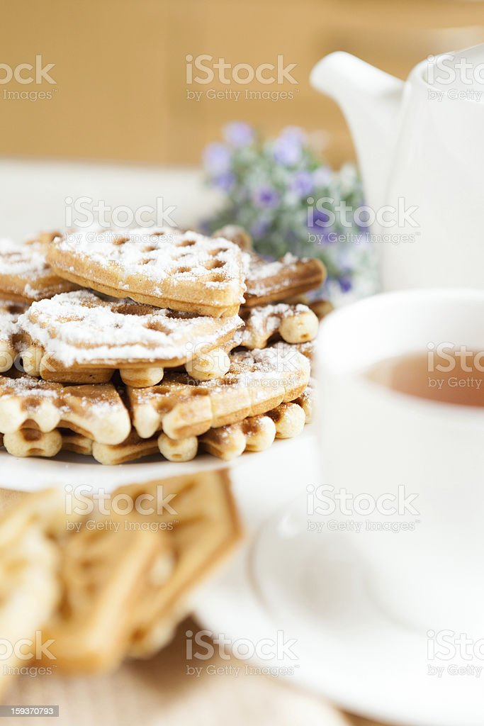 with a cup of tea and homemade pastries royalty-free stock photo