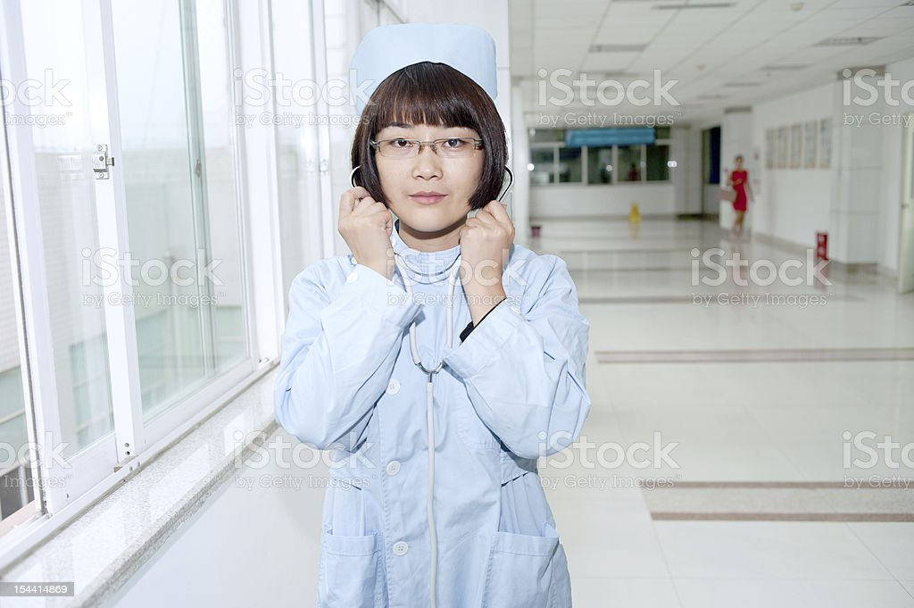 With a smile of nurses royalty-free stock photo