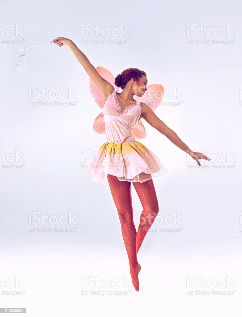 With a twirl here and a spin there... stock photo