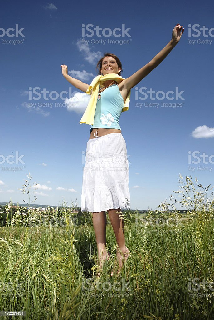 With arms wild opened royalty-free stock photo