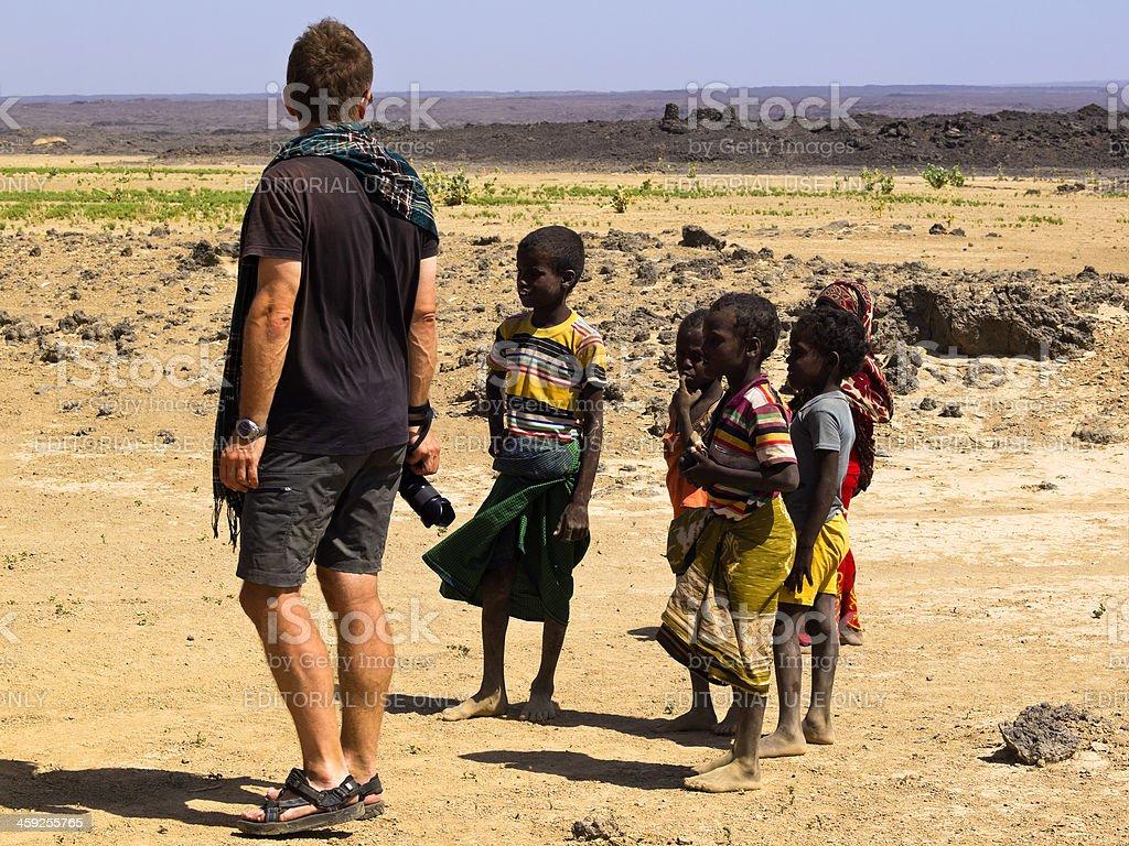 With Children stock photo