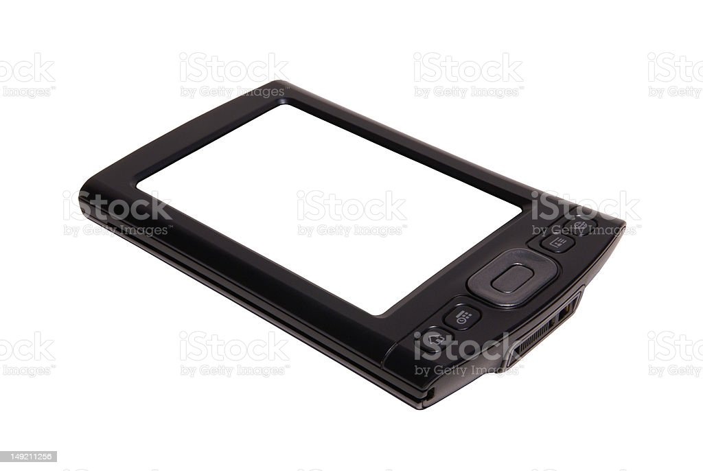 PDA with clean display on white background royalty-free stock photo