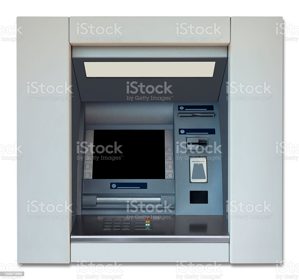ATM With Clipping Path royalty-free stock photo