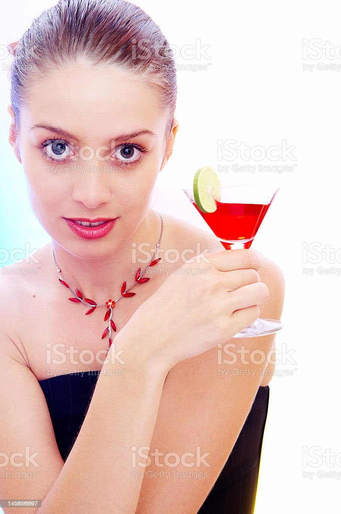 with cocktail royalty-free stock photo