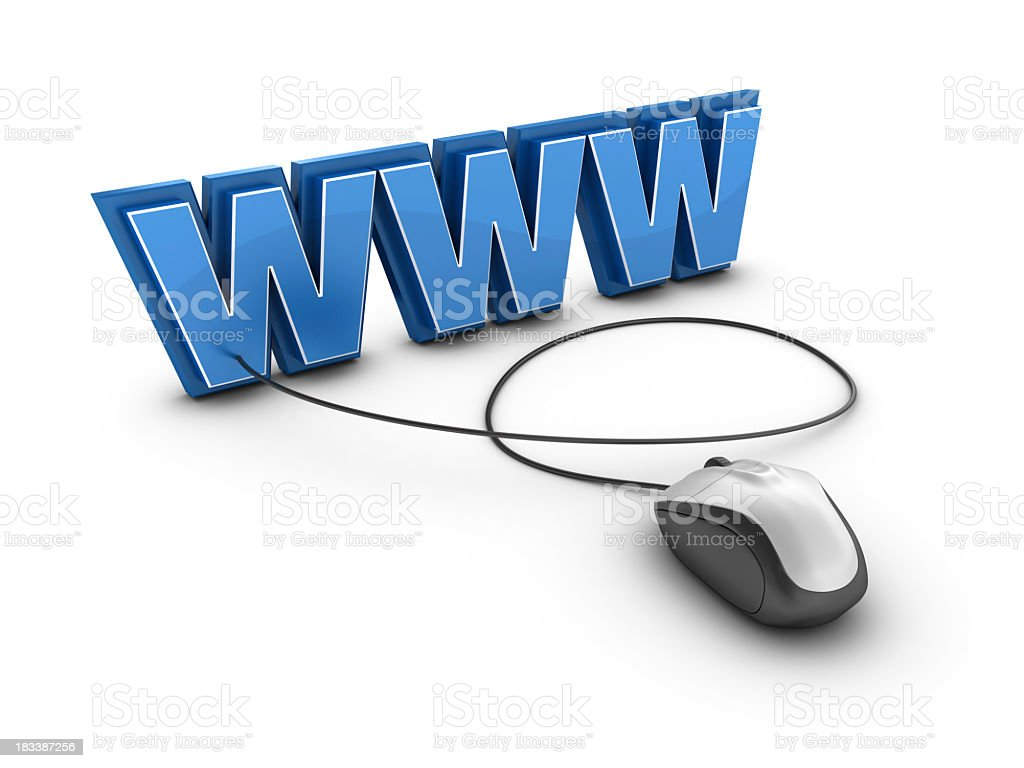 WWW with Computer Mouse royalty-free stock photo