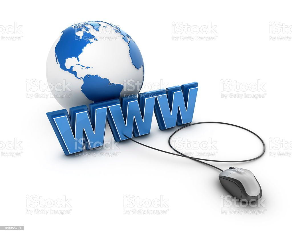 WWW with Earth Globe and Computer Mouse. stock photo