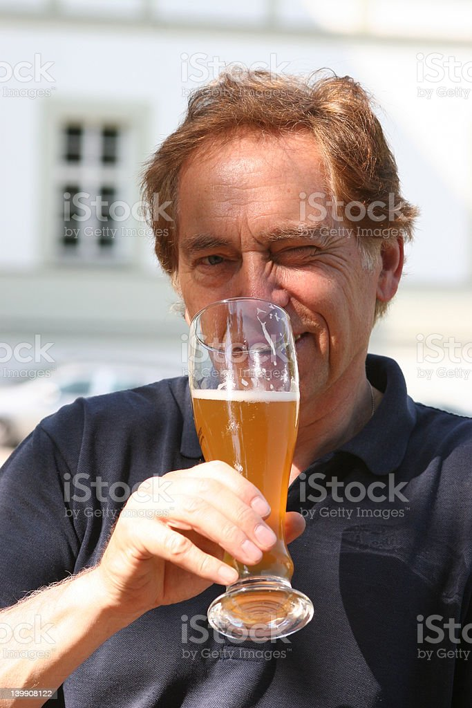 with glass of beer royalty-free stock photo