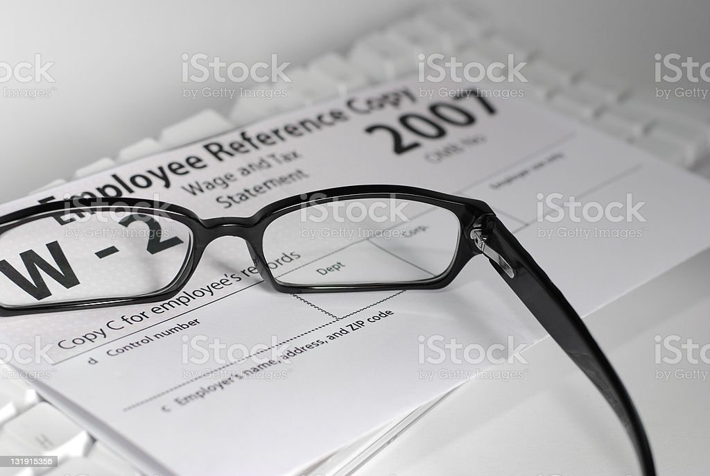 W-2 with Glasses stock photo