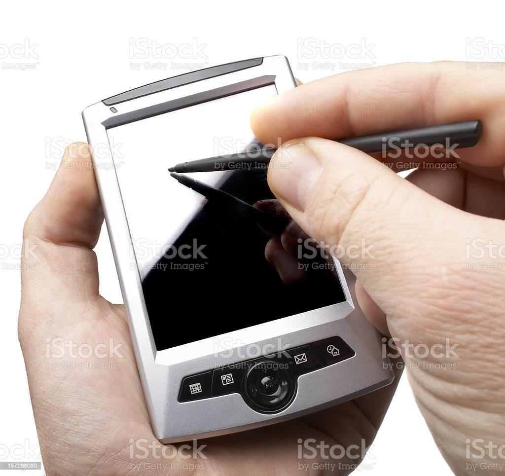 PDA with GPS, isolated on white background royalty-free stock photo
