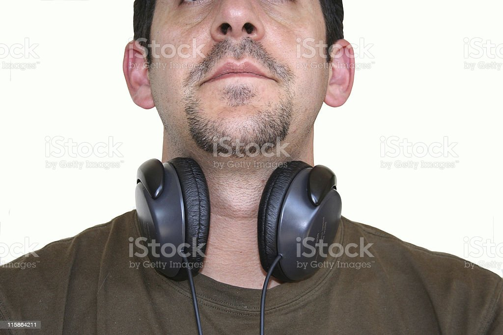 DJ avec écouteurs photo libre de droits