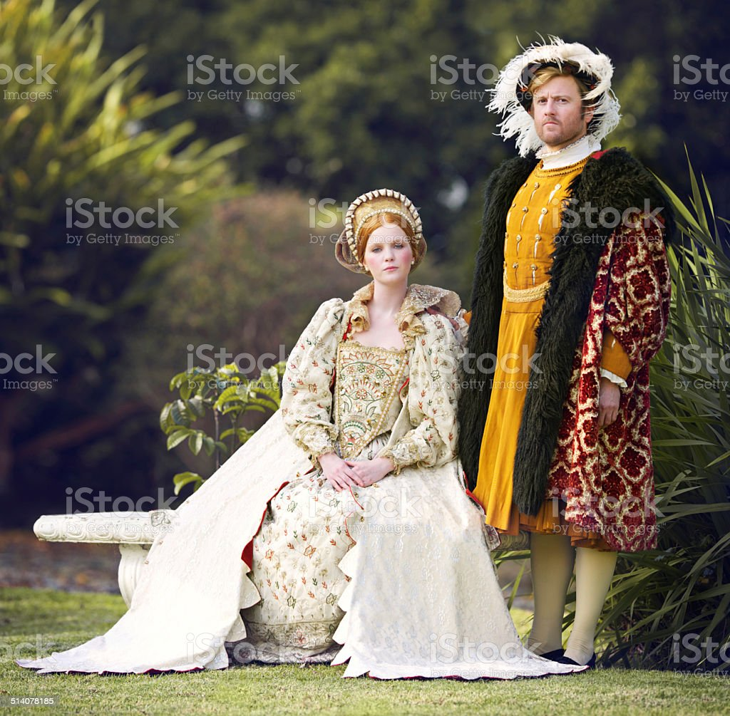 With her king by her side stock photo