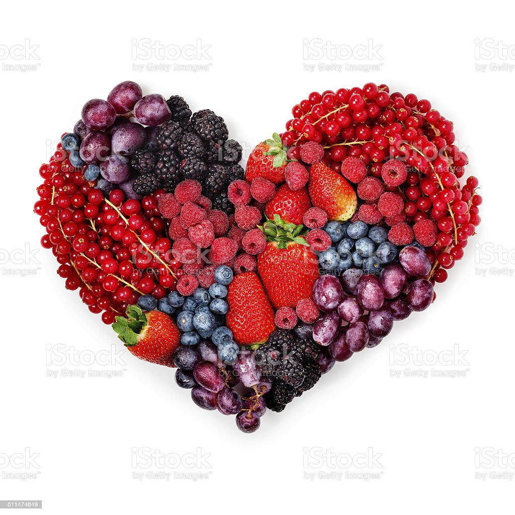 With love to berries. stock photo
