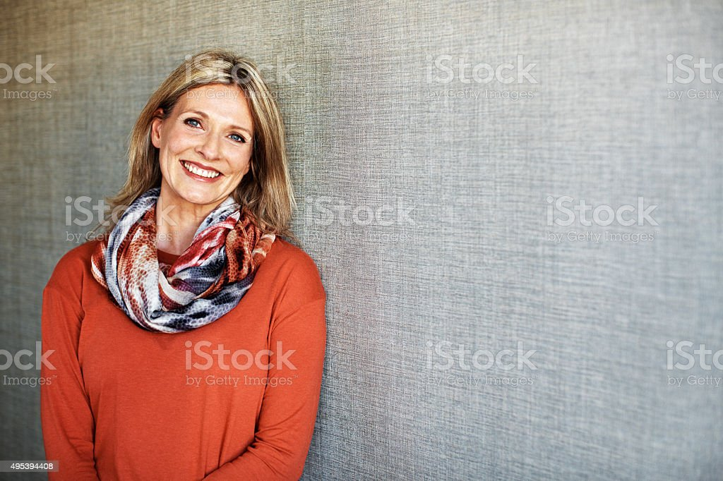 With maturity brings confidence stock photo