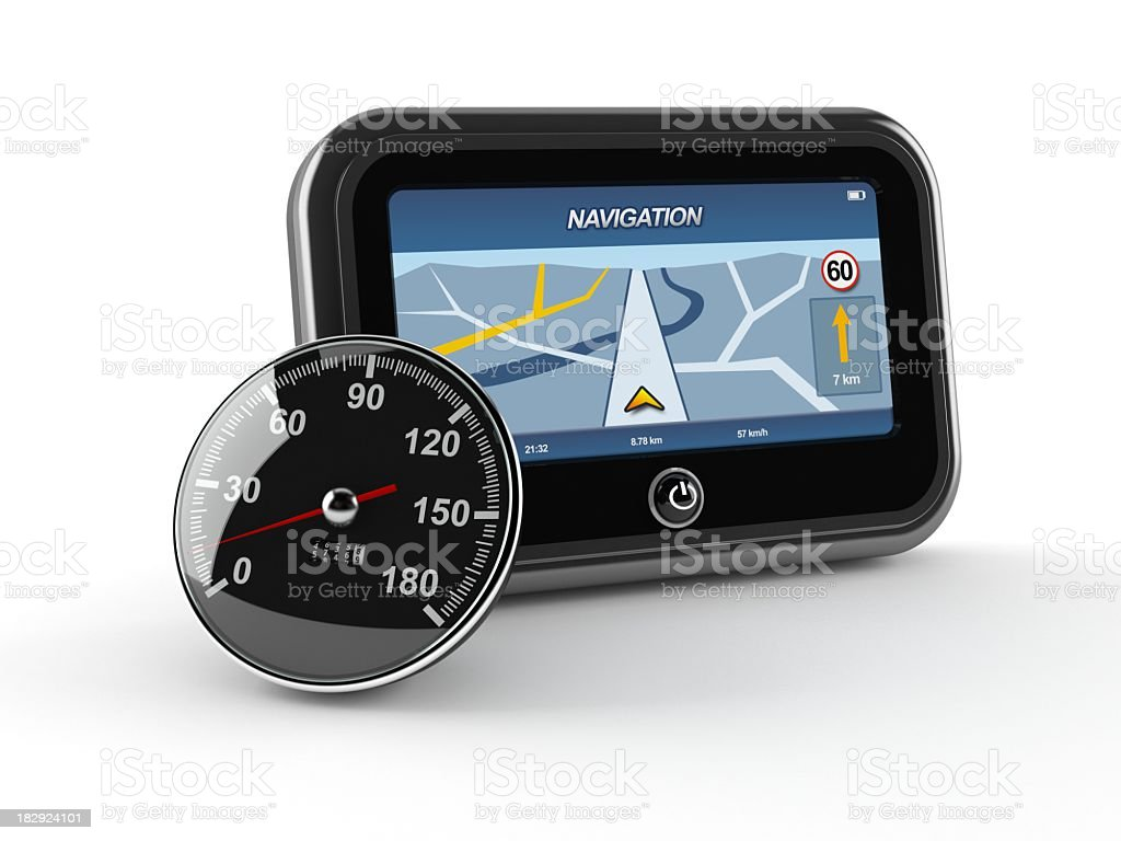 GPS with meter royalty-free stock photo